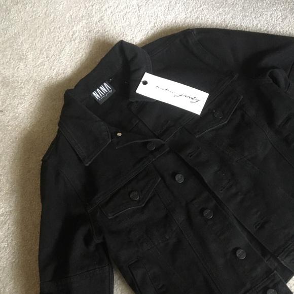 NaNa Jackets & Blazers - Black distressed Denim Jacket Small